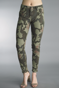 Tempo Paris 1315K Stretch Reversible Denim Pant Camo