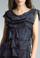 Tempo Paris 2496L Silk Tiered Dress Camo Navy