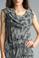 Tempo Paris 2496L Silk Tiered Dress Camo Gray