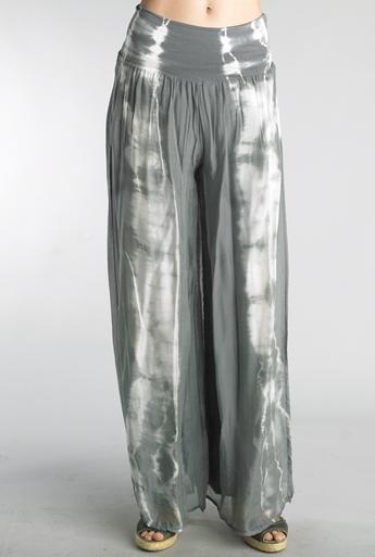 Tempo Paris 5688L Silk Palazzo Tie Dye Silver