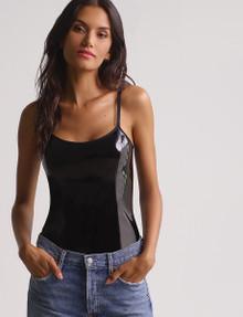 Commando BDS180 Patent Cami Bodysuit Black