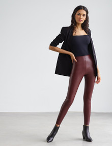Commando Perfect Control Faux Leather Legging SLG06 Oxblood