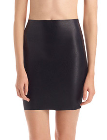 Commando Faux Leather Mini Skort SK08 Black