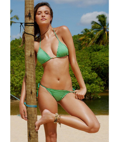 Vix Swimwear Sprite Scale Ripple Bikini Set Green