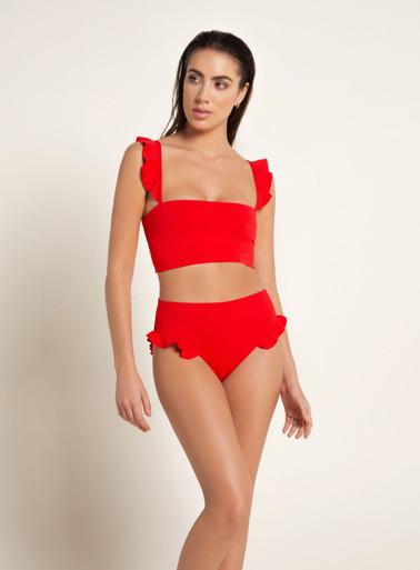 2020 Agua Bendita Palette Susan Penelope Bikini Set Red