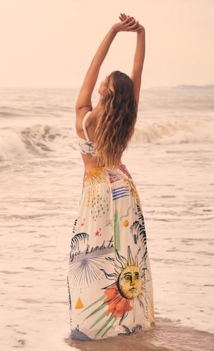 2020 Agua Bendita Astral Story Tropic Skirt