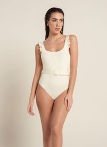 2020 Agua Bendita Palette Nicolette One Piece Swimsuit Ivory