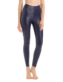 Commando Perfect Control Faux Leather Legging SLG06 Navy
