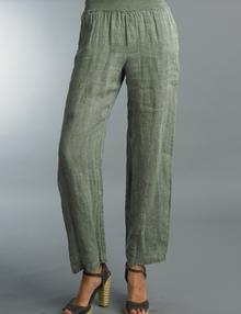 Tempo Paris Linen Pant 1500E Olive