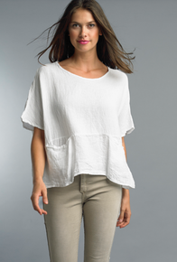 Tempo Paris Linen Top 1301E White