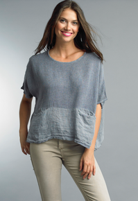 Tempo Paris Linen Top 1301E Denim