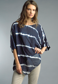 Tempo Paris Linen Silk Top 9253C Navy