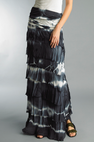 Tempo Paris Silk Maxi Skirt k222FN Tie Dye Navy