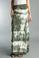 Tempo Paris Silk Maxi Skirt k222FN Tie Dye Olive