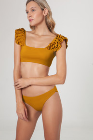 2020 Agua Bendita TUNISIA Story Arielle Lola Bikini Set Mustard