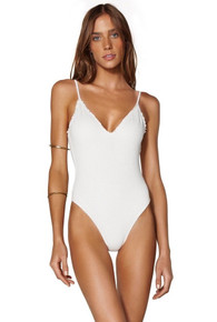 Vix Swimwear Bela One Piece Swimsuit Off White Scales