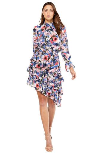 MISA Los Angeles Savanna Dress Tie Dye Floral