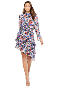 MISA Los Angeles Savanna Dress Tie Dye Floral