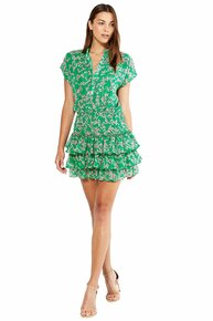 MISA Los Angeles Eloisa Dress Pink Mini Blooms