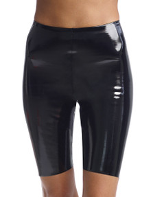 Commando Perfect Control Faux Leather Biker Short SLG35 Black Patent