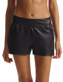 Commando Perfect Control Faux Leather Relaxed Short SLG39 Black
