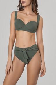 2020 Agua Bendita Aldea Story Marine Pareo Miley Isabella Bikini Set Army Green