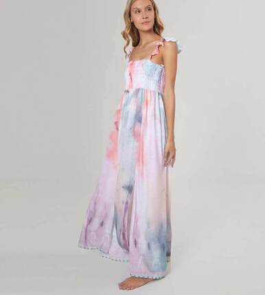 2020 Agua Bendita Shibori Story Leandra Dress