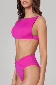 2020 Agua Bendita Shibori Story Macy Lily Bikini Set Neon Pink
