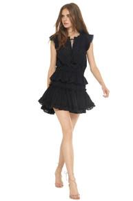 MISA Los Angeles Lilian Cotton Dress Black
