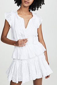 MISA Los Angeles Lilian Cotton Dress White