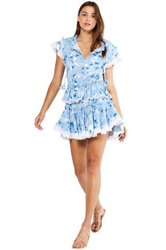 MISA Los Angeles Lilian Dress Blue Washed Wildflower