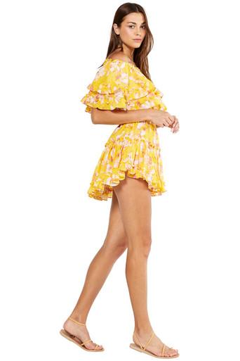 MISA Los Angeles Luella Dress Yellow Washed Wildflower