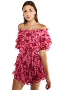 MISA Los Angeles Isella Dress Pink Graphic Floral