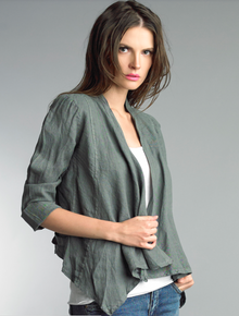 Tempo Paris Linen Jacket 192H Olive Green