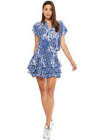 MISA Los Angeles Eloisa Dress Tile Blue