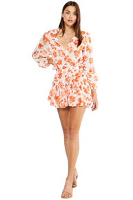 MISA Los Angeles Lorena Dress Orange Tie Dye