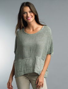 Tempo Paris Linen Top 1301E OLive
