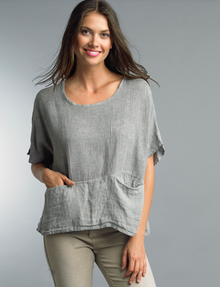 Tempo Paris Linen Top 1301E Silver