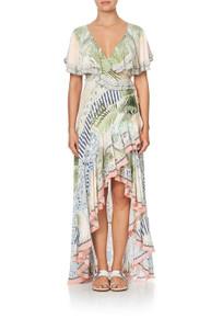 Camilla Frill Sleeve Long Dress Beach Shack