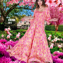 Antica Sartoria Positano Maxi Dress AS5 Pink
