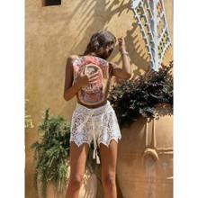 Antica Sartoria Positano Lace Shorts W013 White