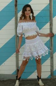 Antica Sartoria Positano Short Skirt WS006 White