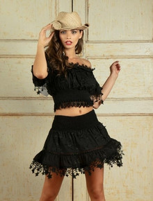 Antica Sartoria Positano Short Skirt WS006 Black