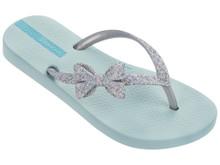 Ipanema Glitter Kids IV Flip Flops Blue Silver