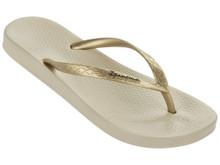 2020 Ipanema Ana Tan Flip Flops Beige Gold