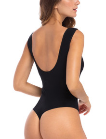 Commando Butter Lifted Backless Bodysuit BDS107 Black