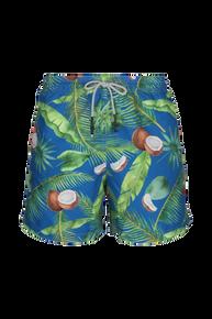 Steam Men's Swim Trunk Coco Leaves Blue