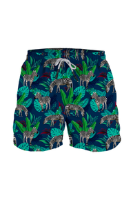 Steam Men's Swim Trunk Zebra Land Blue