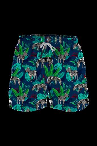Steam Men's Swim Trunk Zebra Land Blue