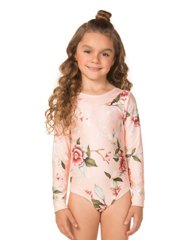 Agua Bendita Girls Patti Koharu Long Sleeve One Piece Swimsuit